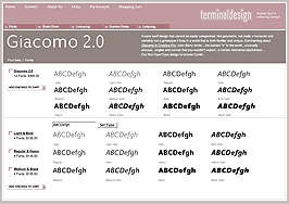 Terminal Design Font Page
