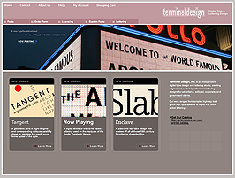 Terminal Design Homepage